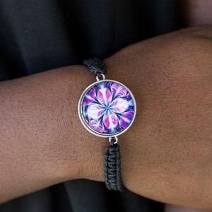 Braided Urban Unisex Bracelet with Flower Design